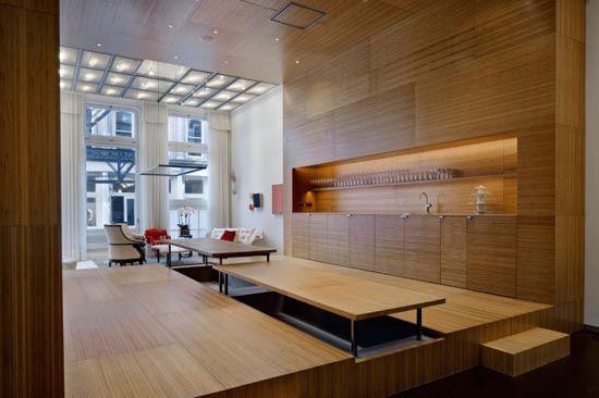 Modern Wood Interior Design White Street Loft In New York