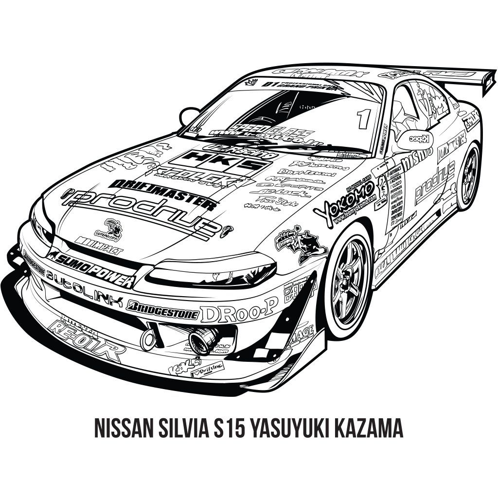 Jdm Colouring Book Racing Edition Jdm Mitsubishi Cars Cars Coloring Pages