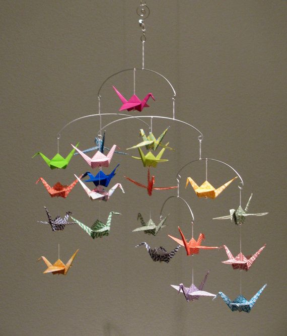 Beautiful Origami Crane Mobile Stuff Love Pinterest Origami