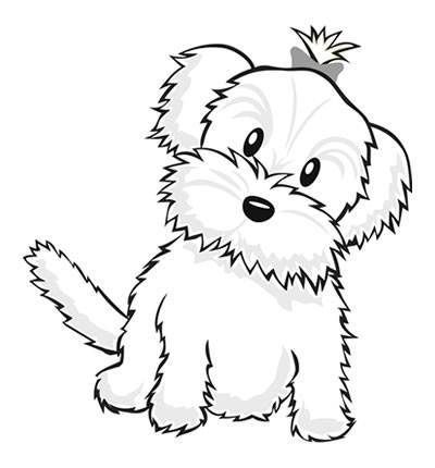 dog color pages printable  Cute Dog Coloring Pages for Preschool