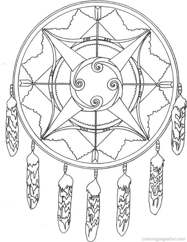 Native American Indian Coloring Books Coloring Pages Dream Catcher Coloring Pages Mandala Coloring Pages Cool Coloring Pages