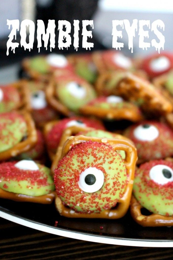 Zombie eyeball pretzels super easy and fun halloween treat zombie eyeball pretzels super easy and fun halloween treat easyhalloweentreats halloweendesserts forumfinder Images