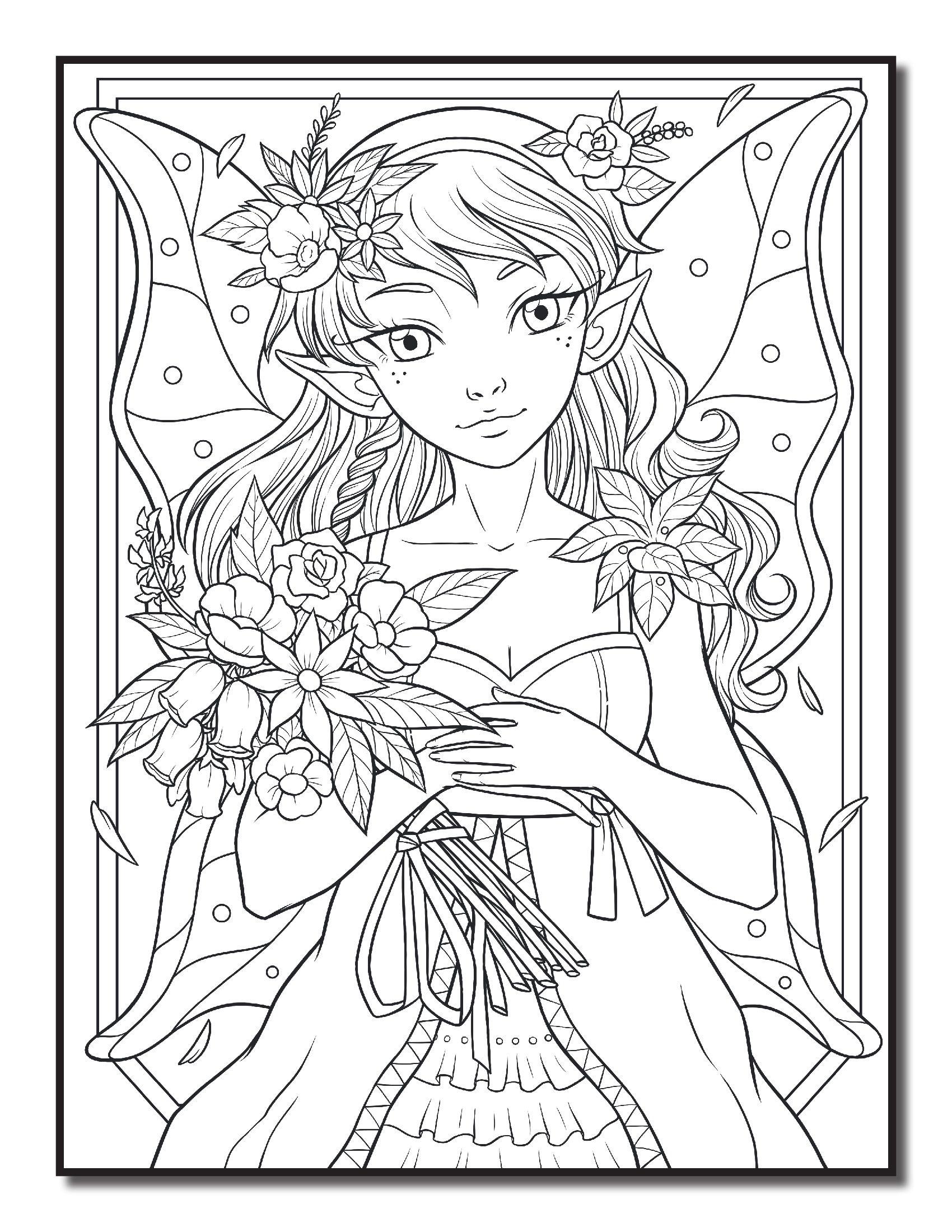 Фея с букетом цветов - Феи и Эльфы (с изображениями ...