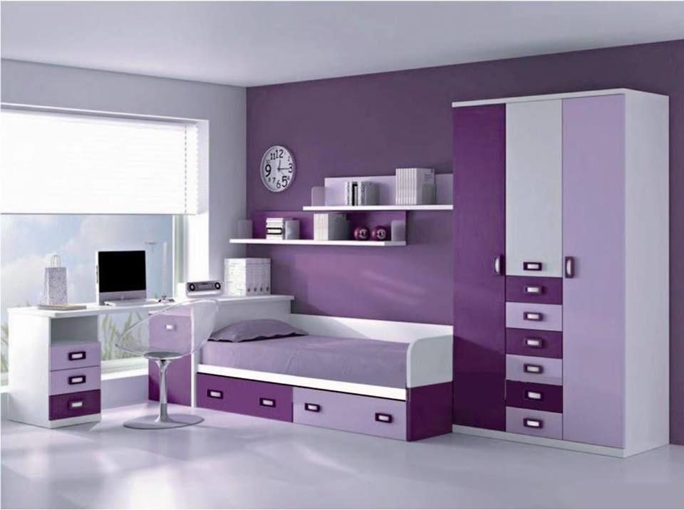Un cuarto para las amantes del morado recamara - Decoraciones para dormitorios juveniles ...