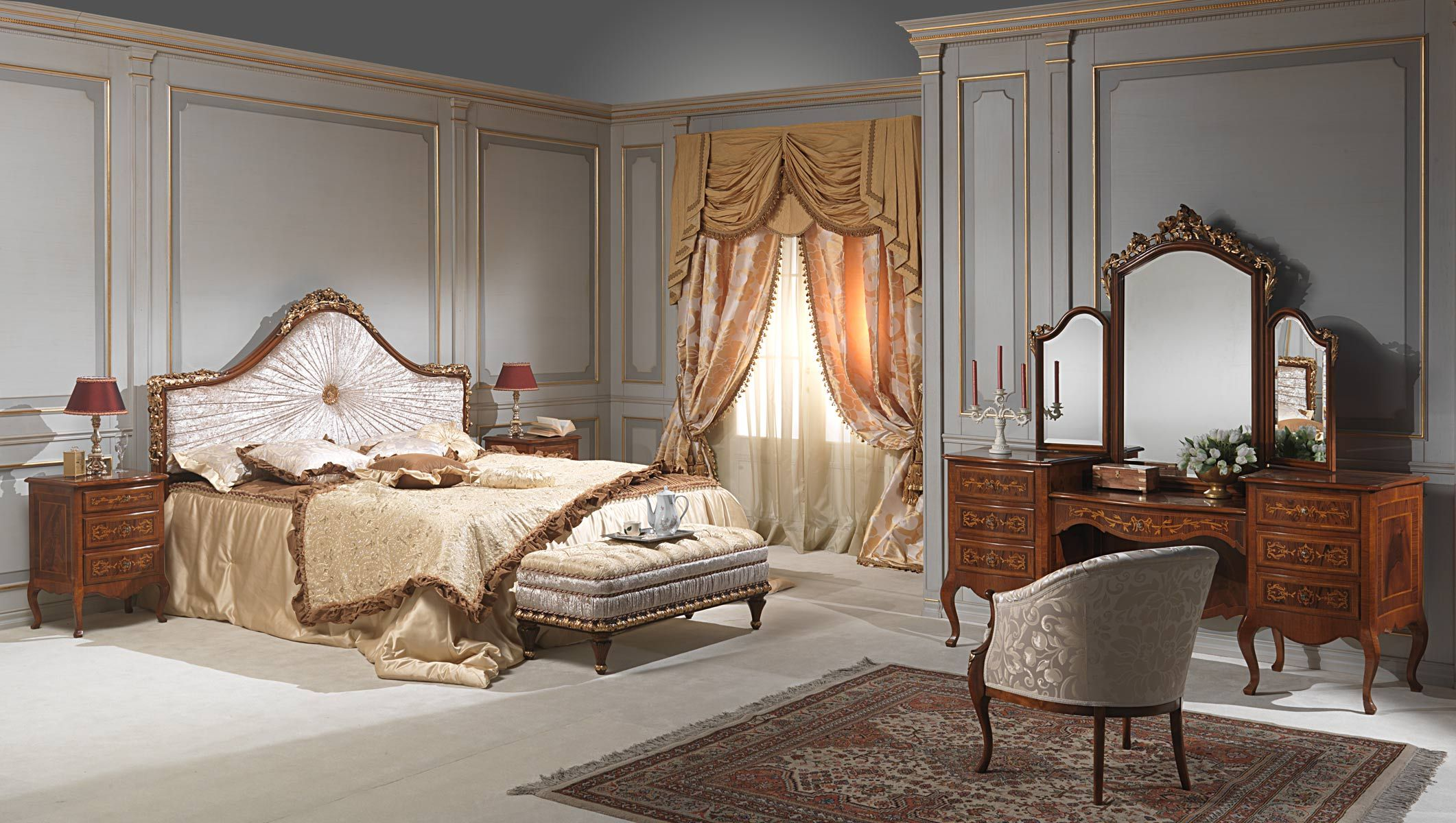 classic louvre bedroom collection - Vimercati Meda | My dream ...