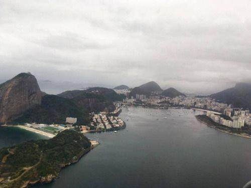 Rio de Janeiro, Brasil. Da janela de um avião a caminho da Europa…
