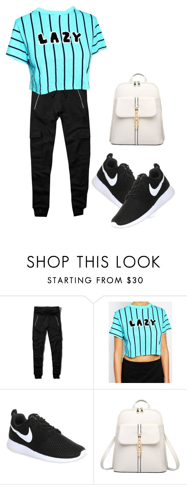 """""""LAZY"""" by kiara-tuggle ❤ liked on Polyvore featuring Abercrombie & Fitch, Lazy Oaf and NIKE"""
