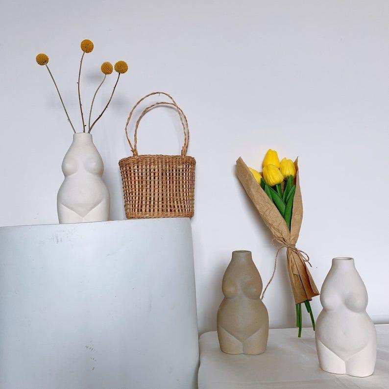 Lady Body Art Vase Nordic Vasebutt Modern Home Decorwhite Etsy In 2020 Handmade Ceramics Home Office Decor Vase