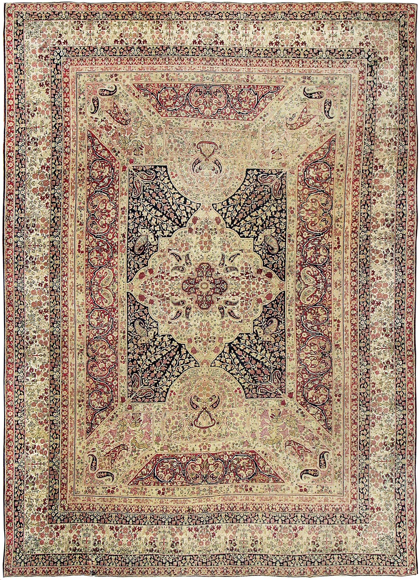 Antique Kerman Persian Rug 44391 Detail Large View By Nazmiyal