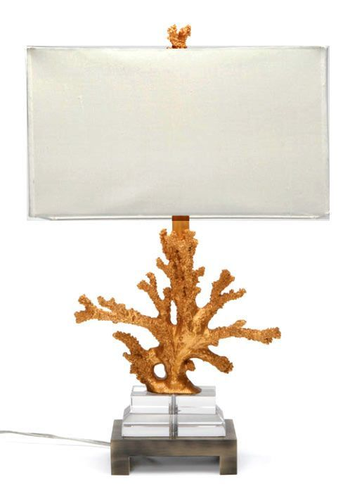 Naia Coral And Lucite Table Lamp   Gold   Clayton Gray Home