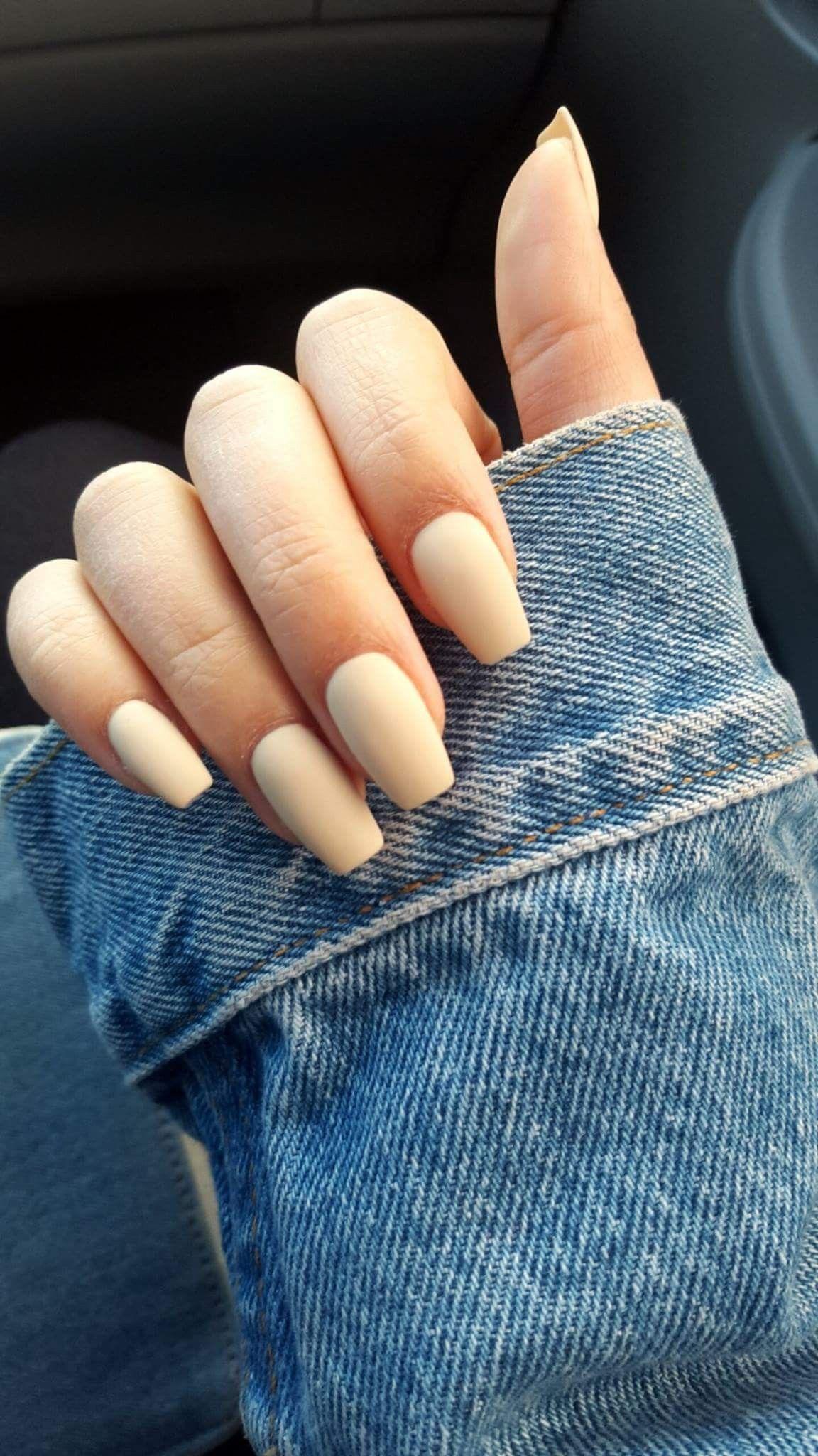 OPI Youre so Vanilla matte coffin nails