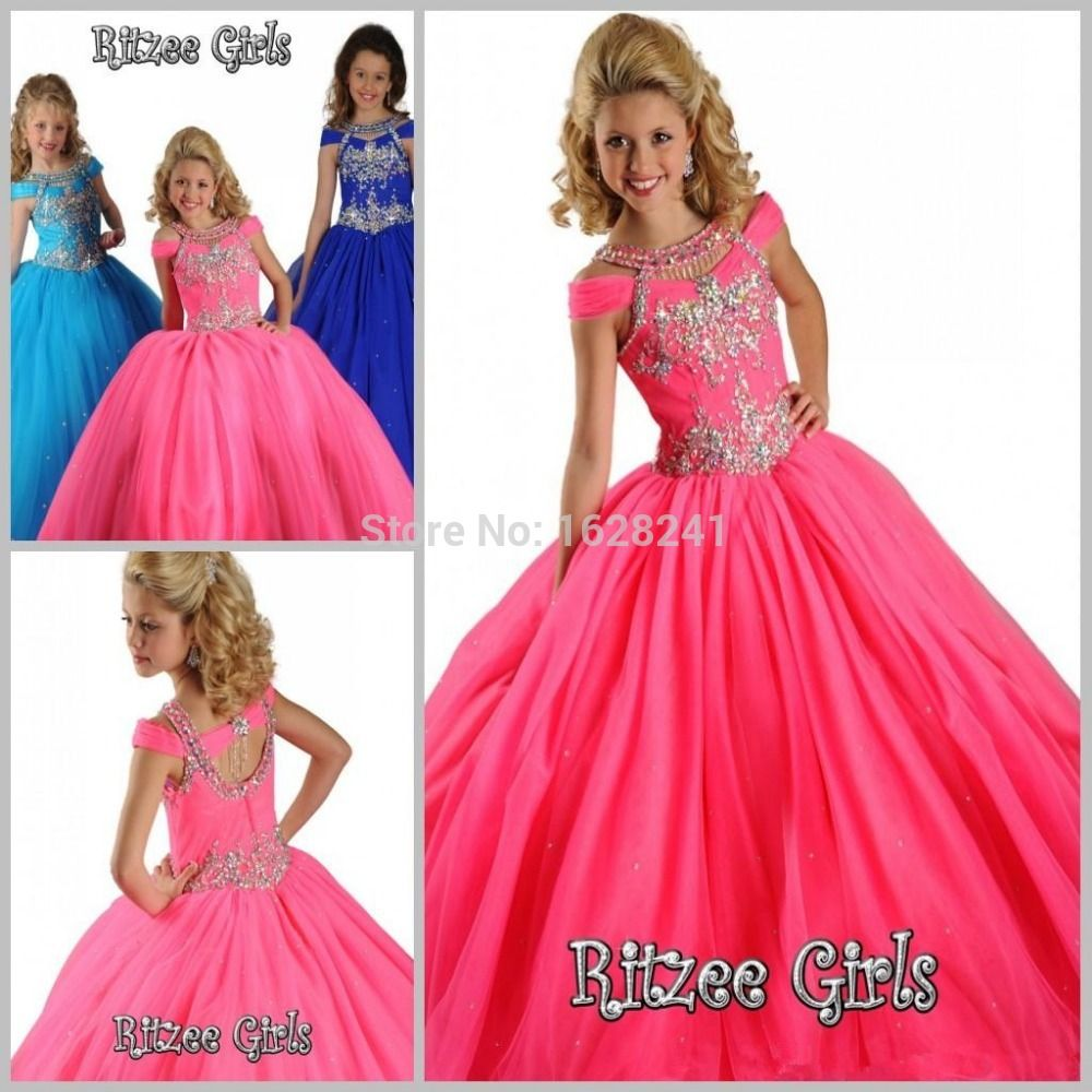 Click to buy ucuc wonderful beauty ball gown flower girl dresses