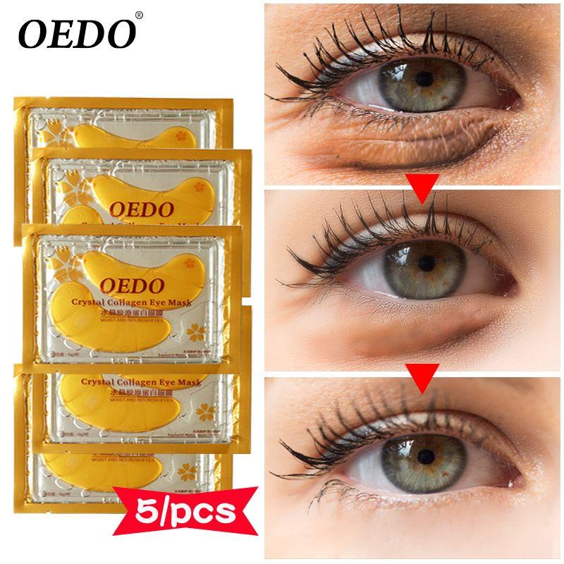 10 Stücke 5 Pack Kristall Kollagen Auge Behandlung Maske