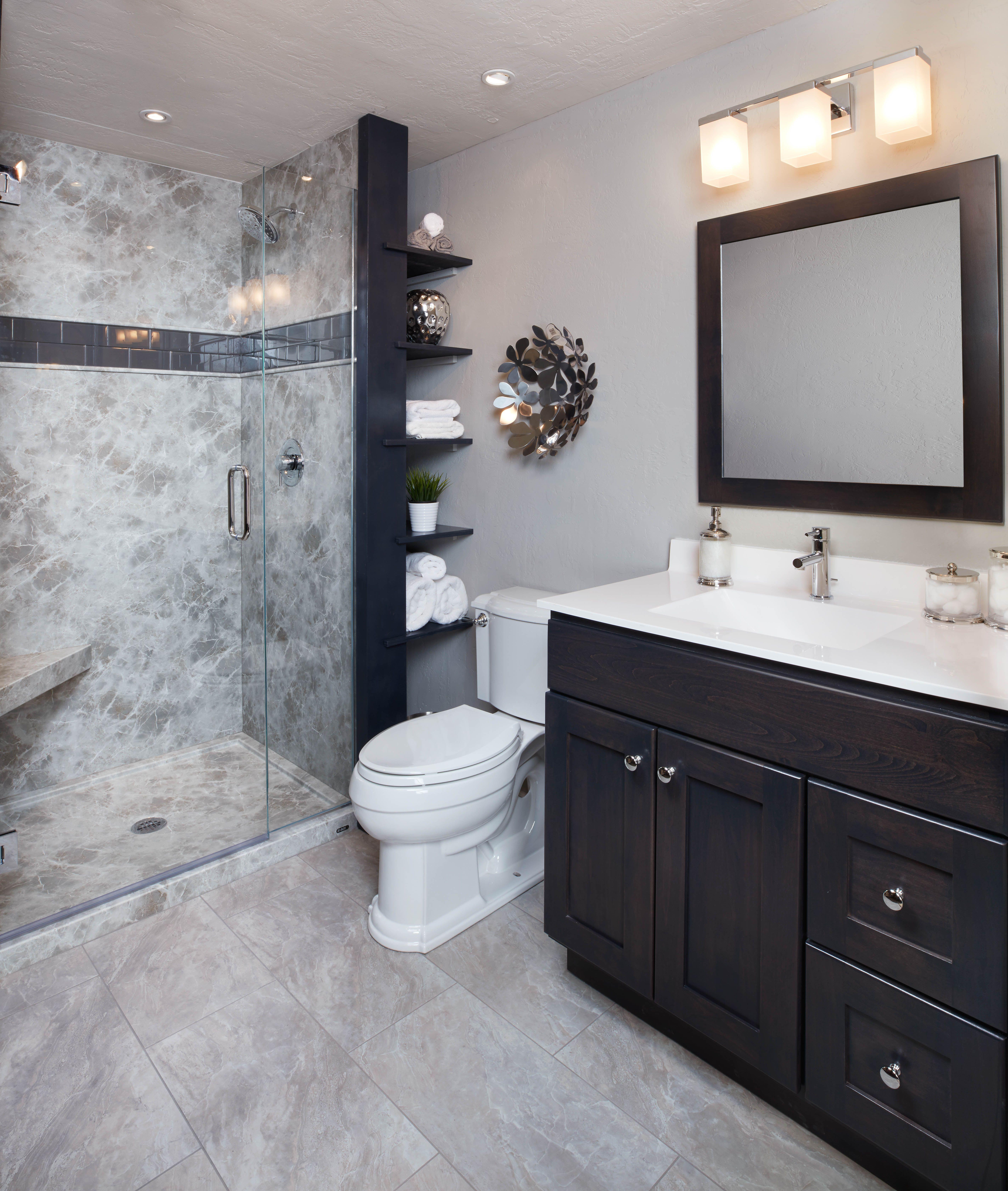 Grey Emperador Wall Surround Latest Bathroom Tiles Bathroom