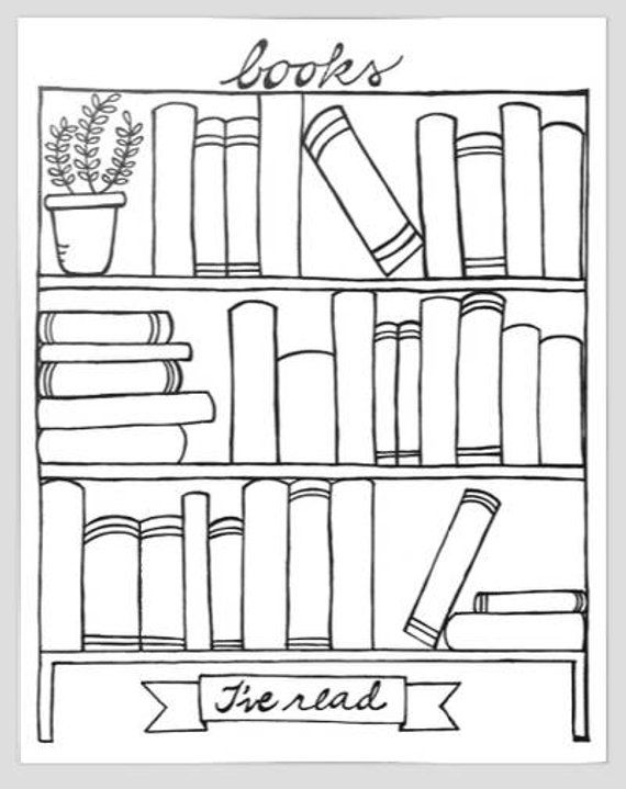 Books Ive Read Bookshelf Graphic Organizer Printable Digital Download