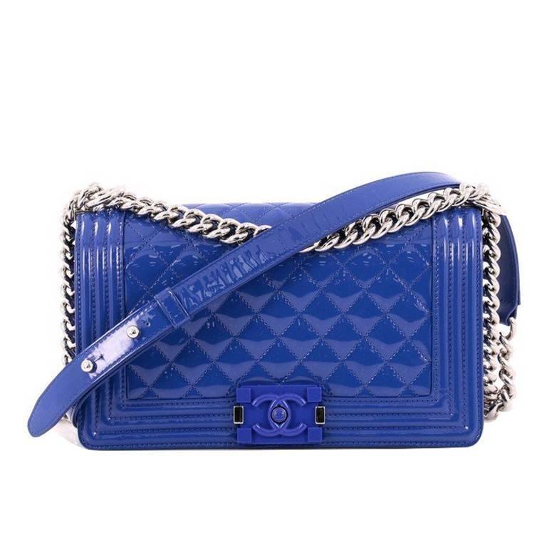 d54f3f93af9e17 Chanel Boy Flap Bag Quilted Plexiglass Patent Old Medium | My ...