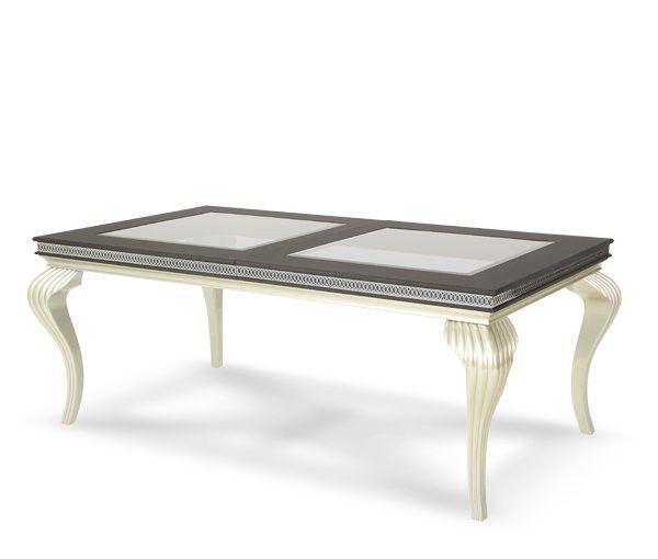 Hollywood Swank Leg Dining Table - Caviar by Aico
