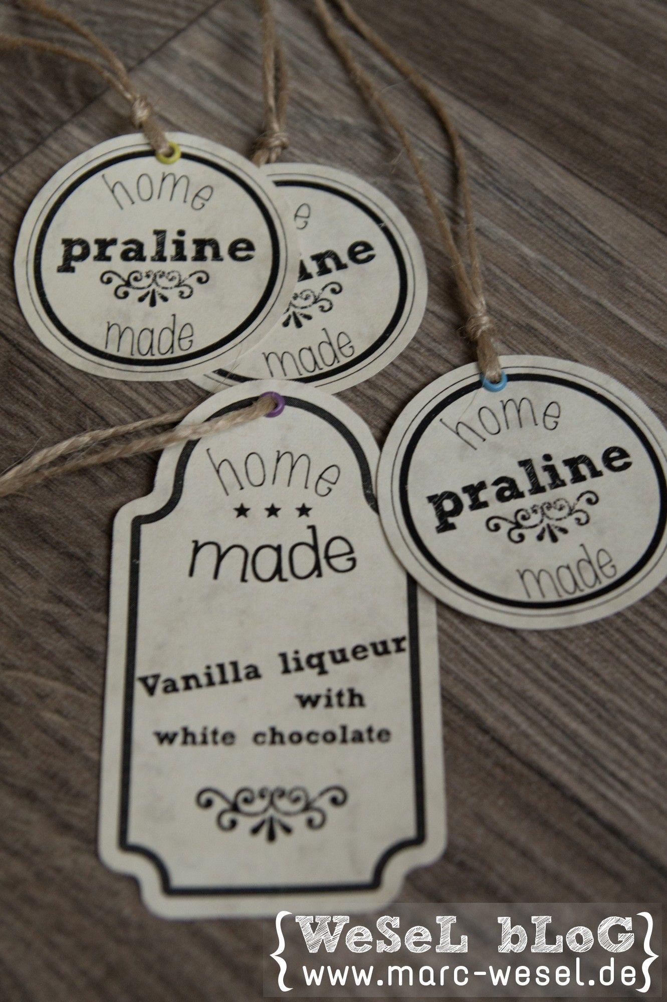 Labels für Pralinen und Likör DIY | Hausgemachte pralinen ...