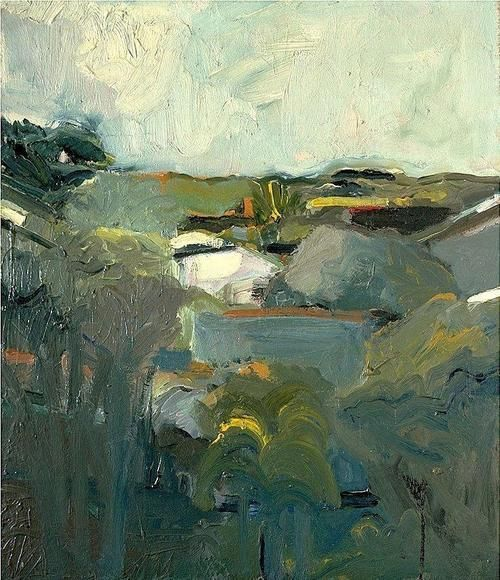 Elmer Bischoff Houses and Hills 1957
