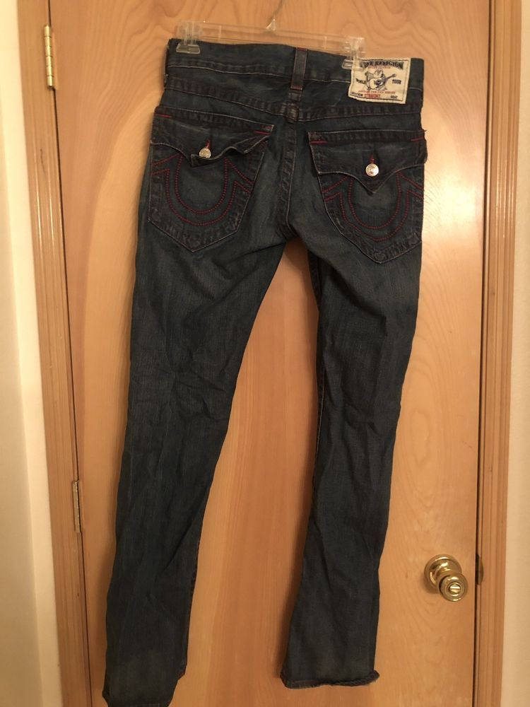eb54112fc True Religion mens blue jeans world tour straight faded 34 actual 35