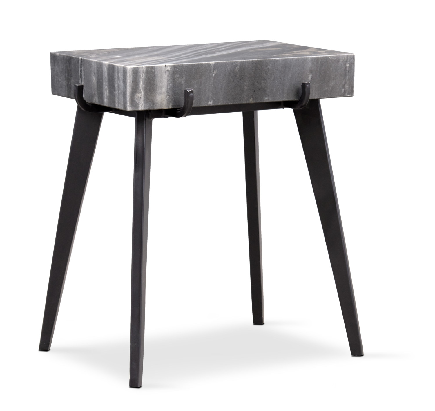 Mod Rectangular Accent Table Marble White Side Tables Value