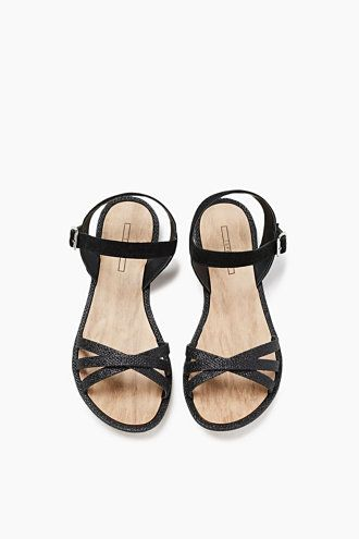 Details:  -These sandals with a stylish glittery finish are an elegant way to finish off your summer look. -The distinctive Y strap at the heel and ankle is finished in faux suede and ensures the sandal fits perfectly.