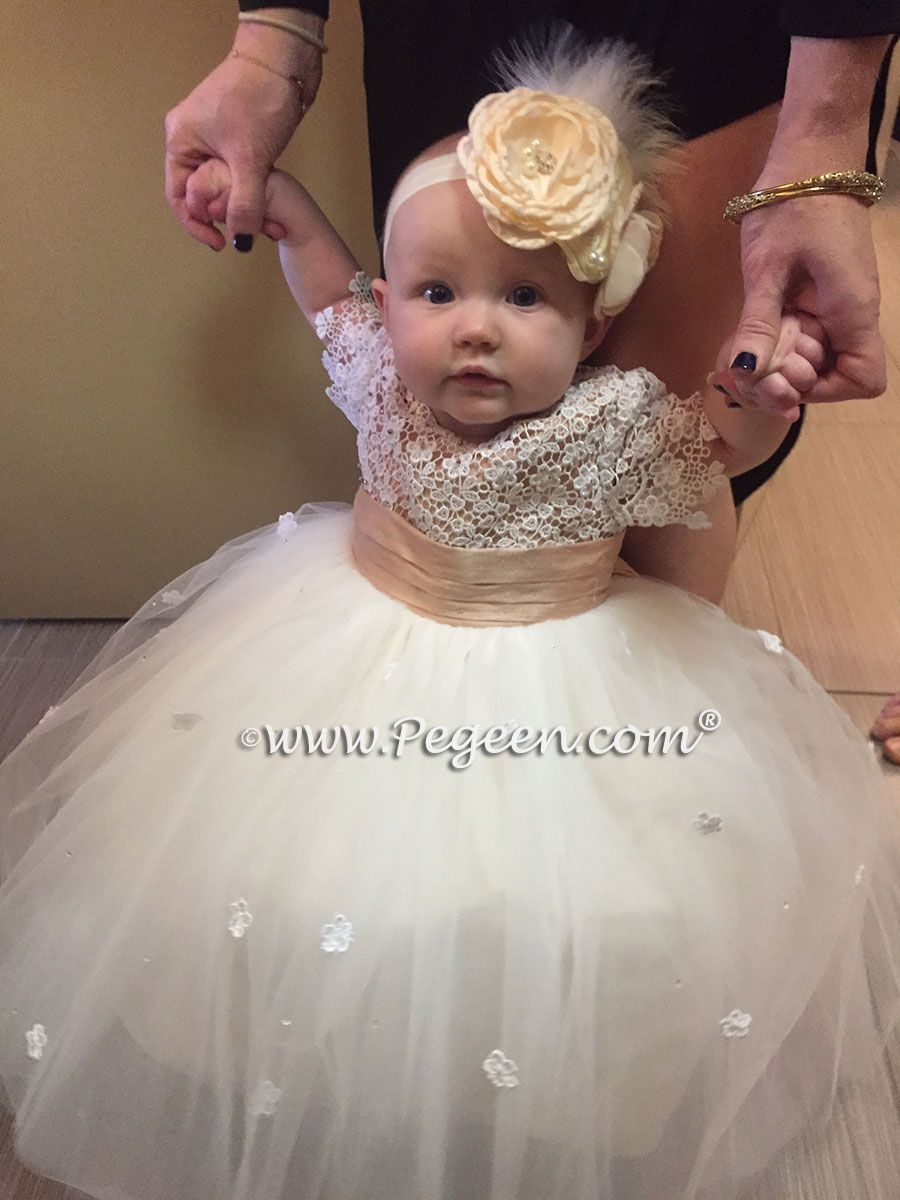 af295d963a8 Infant Flower Girl Dress of the Year in silk and tulle