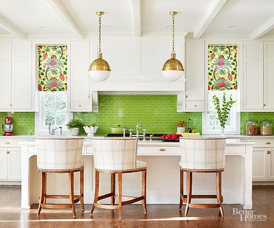 Kitchen Decorating Ideas Add Color Colorful Kitchen Backsplash Kitchen Colors Green Backsplash