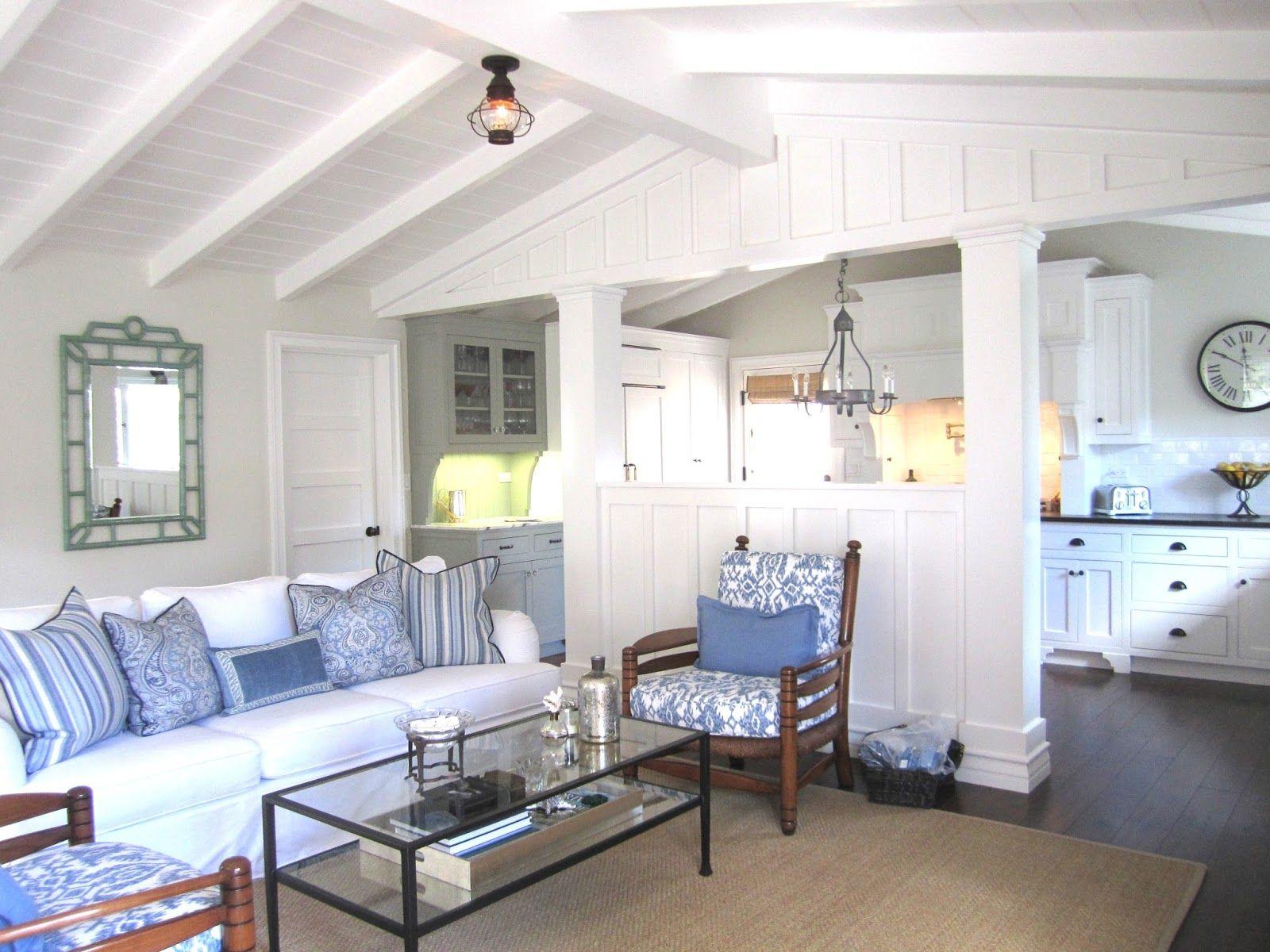 Blue And White Casual Beach Cottage Beach House Interior Design