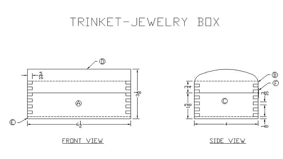 Free Jewelry Trinket Box Plan Free Jewelry Box Plans Pinterest