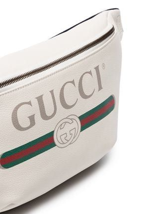 aebb0c54d4f Gucci white logo embellished leather crossbody bag