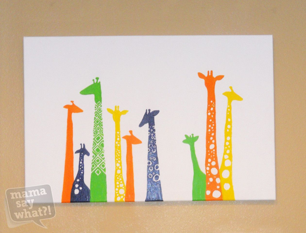 Cute And Easy Colorful Diy Canvas Painting Nursery Giraffes