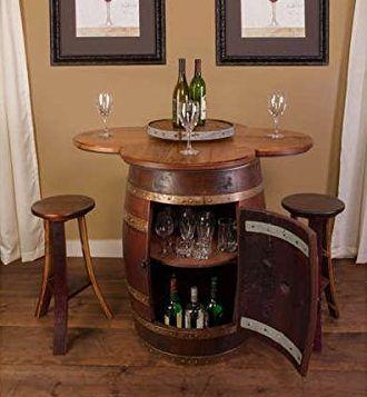 Wine Barrel Furniture Ideas You Can DIY Or BUY (135 PHOTOS!) | Wine Barrel  Table, Barrel Table And Barrels