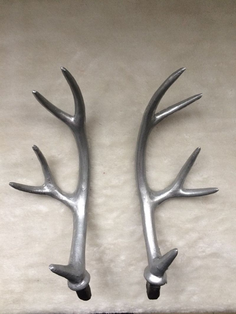 luxury ideas fake deer. 27cm Wedding decor silver fake deer antlers artificial horns set of 2  DIY Material