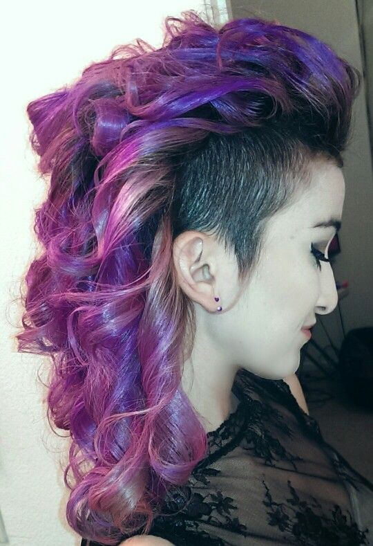curly pastel purple mermaid hair