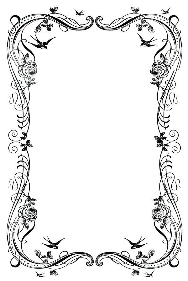 border lineart 6 by beinspyred on deviantart bos graphics rh pinterest ca victorian flower border clip art free