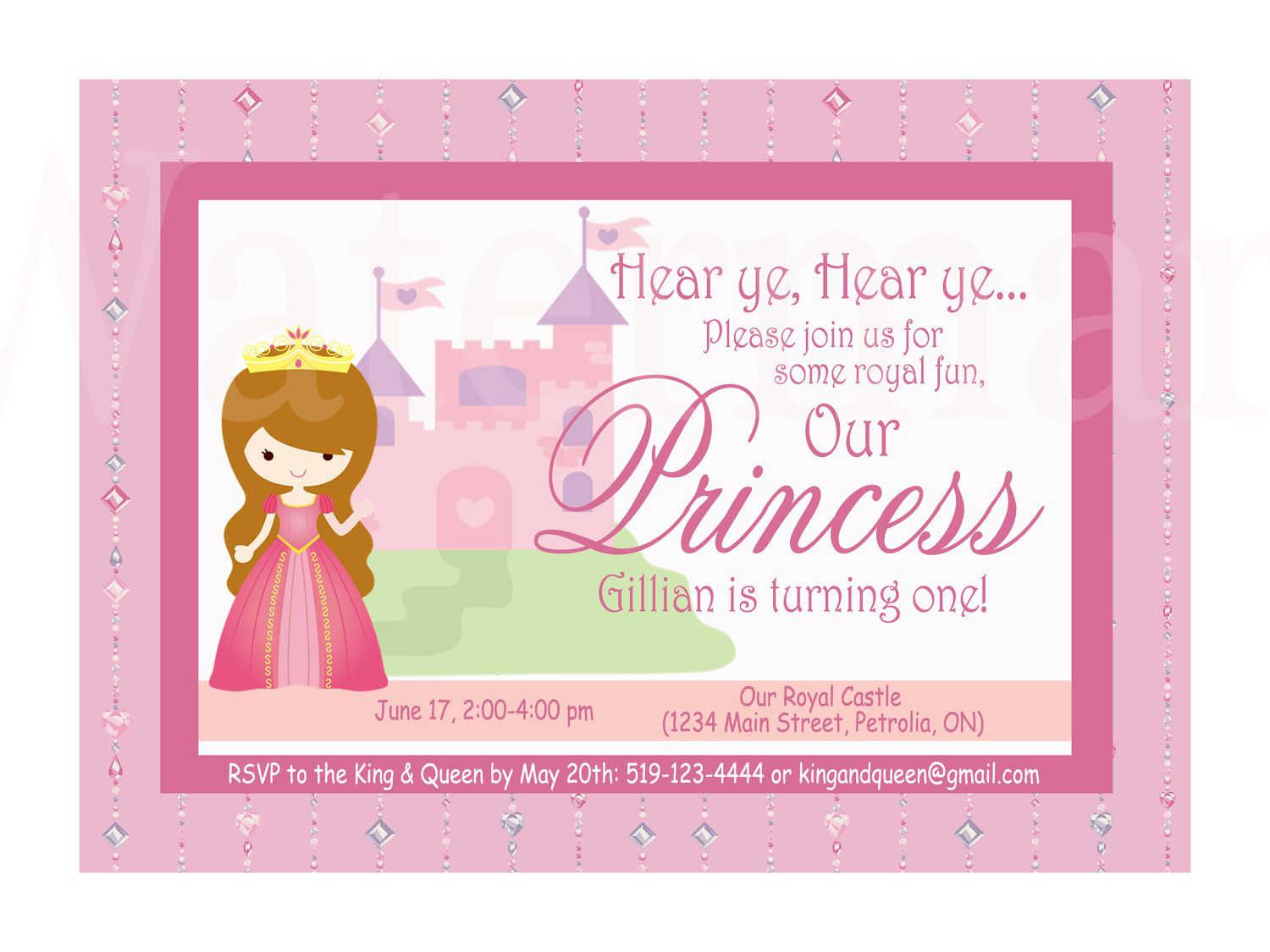First Birthday Princess Free Printables