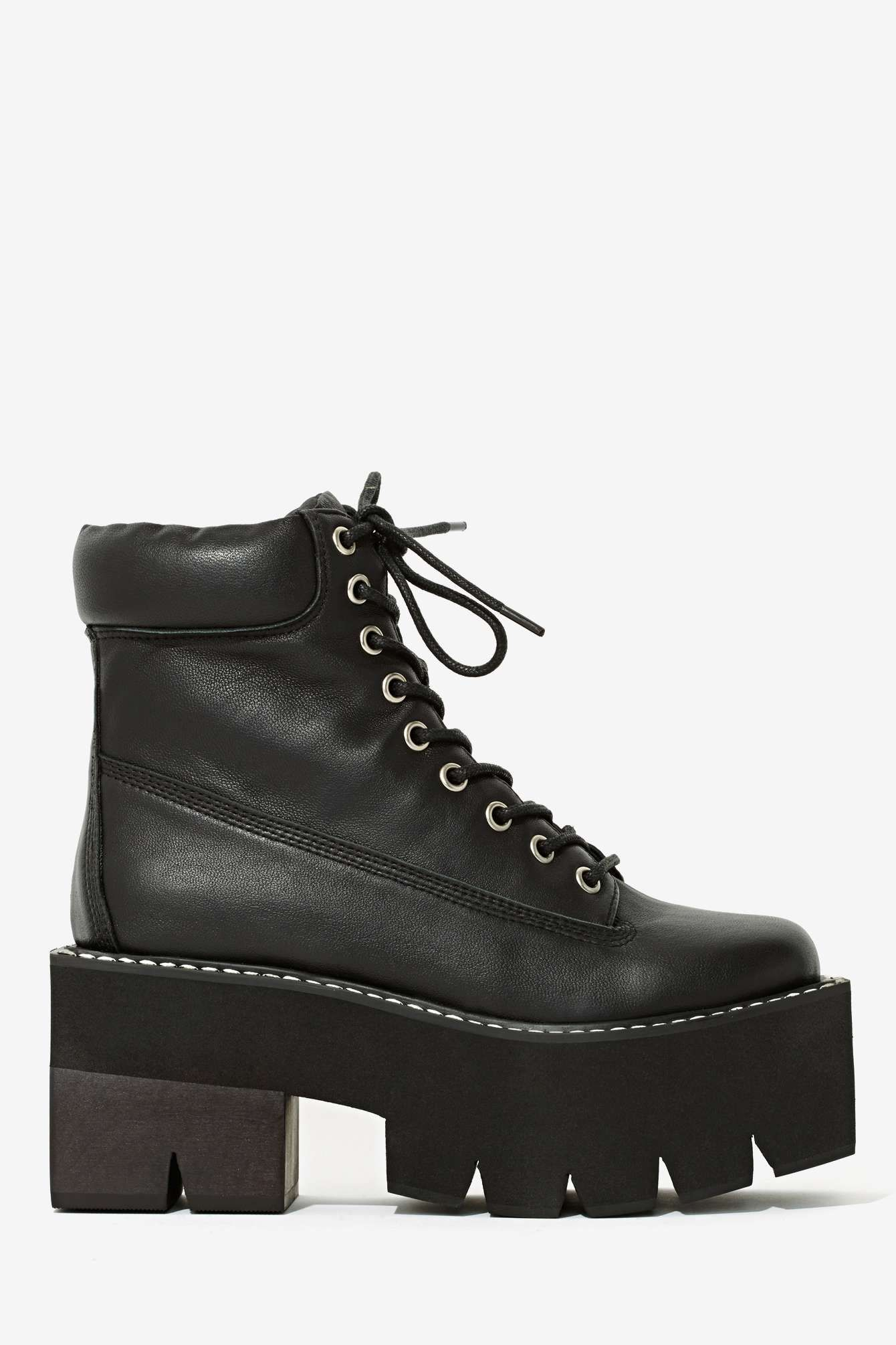 Nirvana Boot Square Jeffrey Leather with Style Black Campbell 6qxZ7RTw