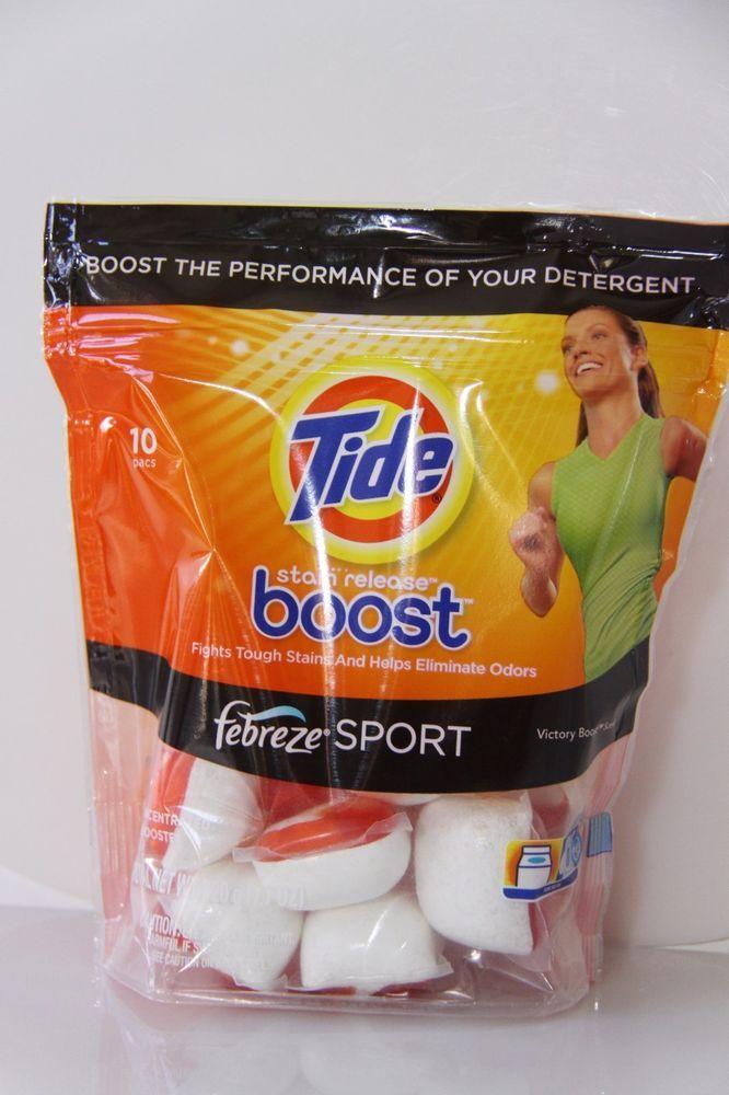 1 10 Pacs Tide Boost Stain Release Febreze Sport Ultra