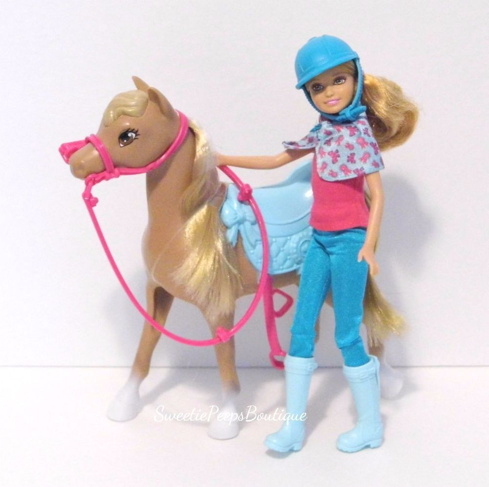 Details About Barbie Camping Fun Stacie Doll Pony Horse
