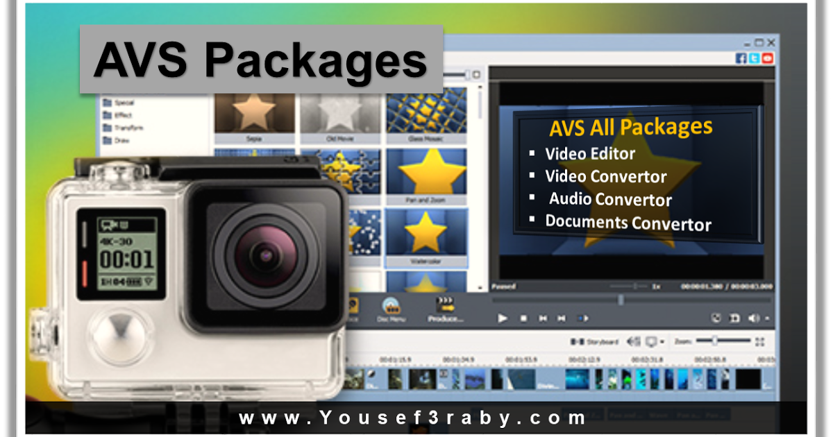 Download AVS packages AIO   AVS Video Editor  AVS Video Editor supports all key video formats. Edit & save video files in AVI VOB MP4 DVD WMV 3GP MOV MKV using popular codecs H.264 MPEG-4 H.263 etc. Process video with different frame sizes: HD Full HD 2K Quad HD and 4K Ultra HD. See a full list of supported video formats  Edit Your Video with Fantasy  Trim cut split merge rotate and mix videos with AVS Video Editor. Select between 300 innovative video effects and transitions. Insert menus…