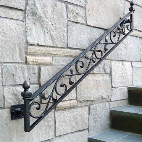 Idea para un Pasamanos en hierro. #baranda #rail #hierro #herrería ...