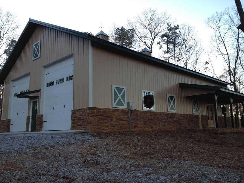 40x60x16 With 8x30 Shed Post Frame Building Www Nationalbarn Com Post Frame Building Pole Barn Diy Pole Barn
