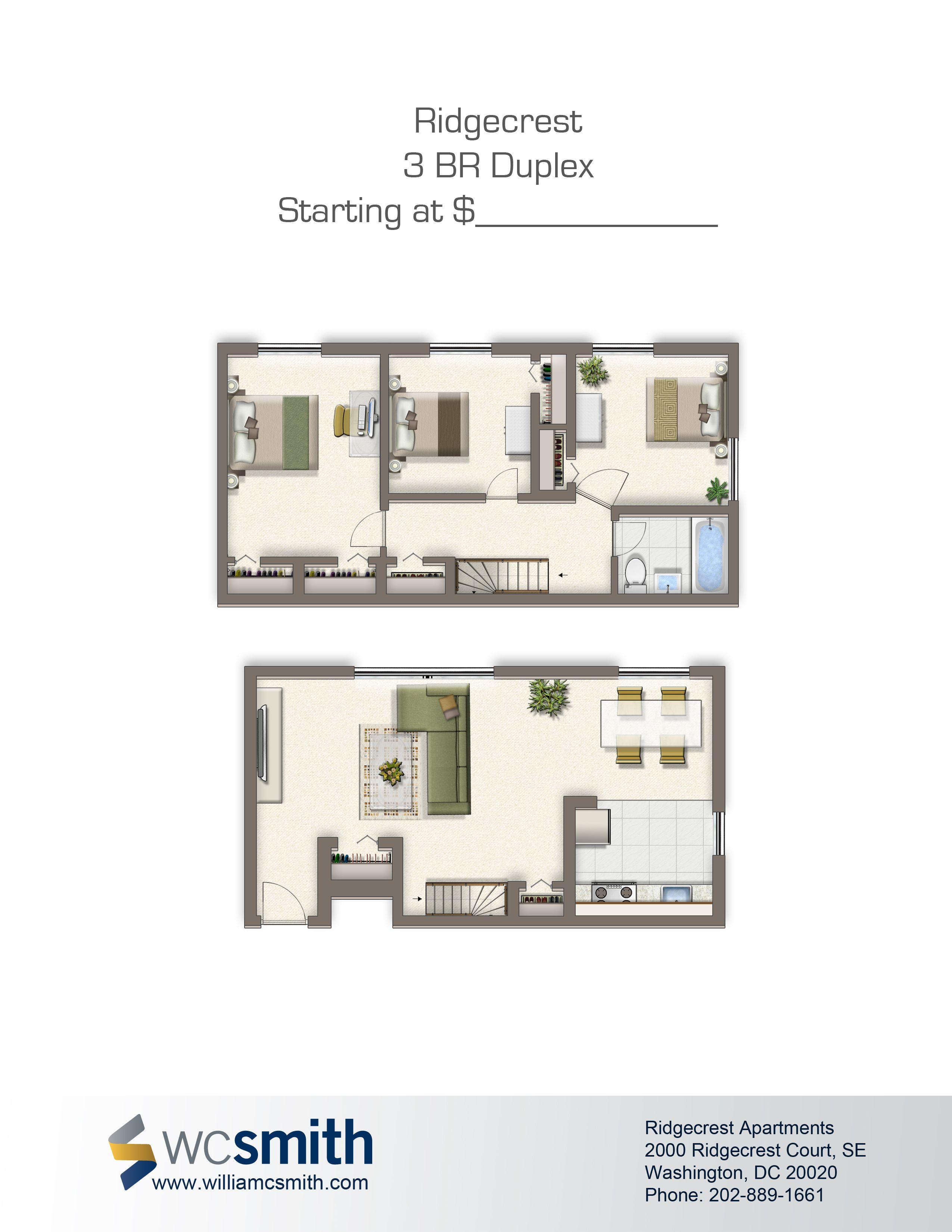 Ridgecrest Apartments Wc Smith Stylish Apartment Bedroom Floor Plans Apartment