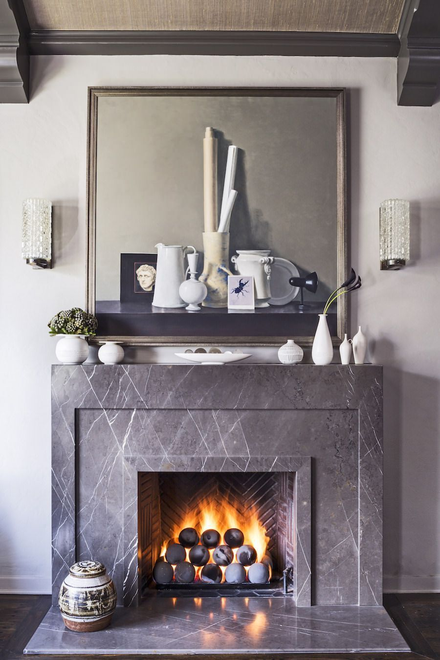 A Look At The Fireplaces Inside Designer Jeff Andrews Projects