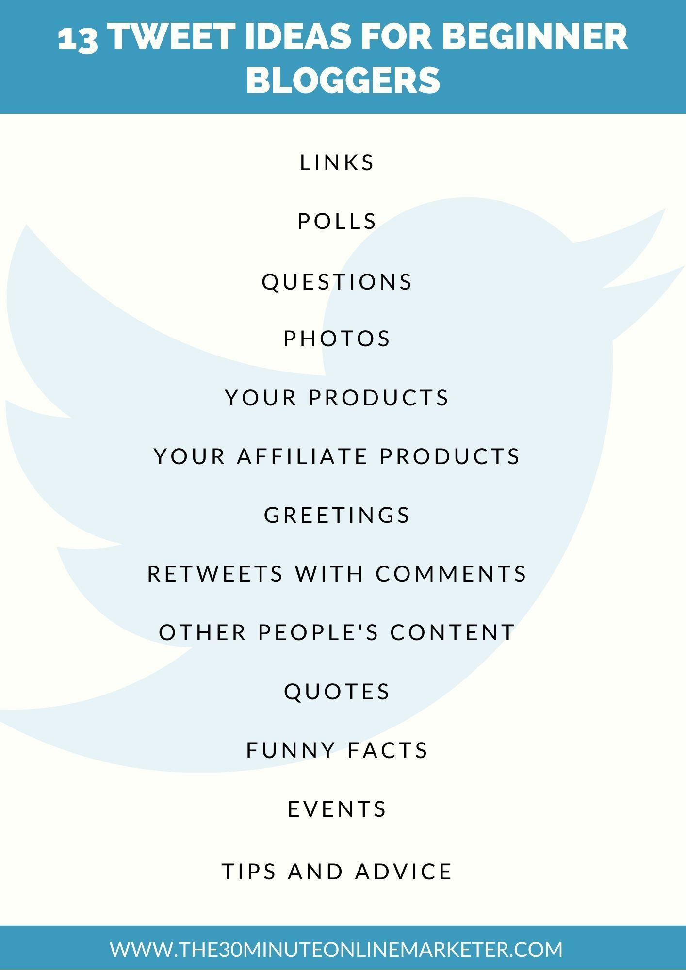 How Beginner Bloggers Use Twitter Effectively Social Media Schedule Social Media Marketing Pinterest Social Media