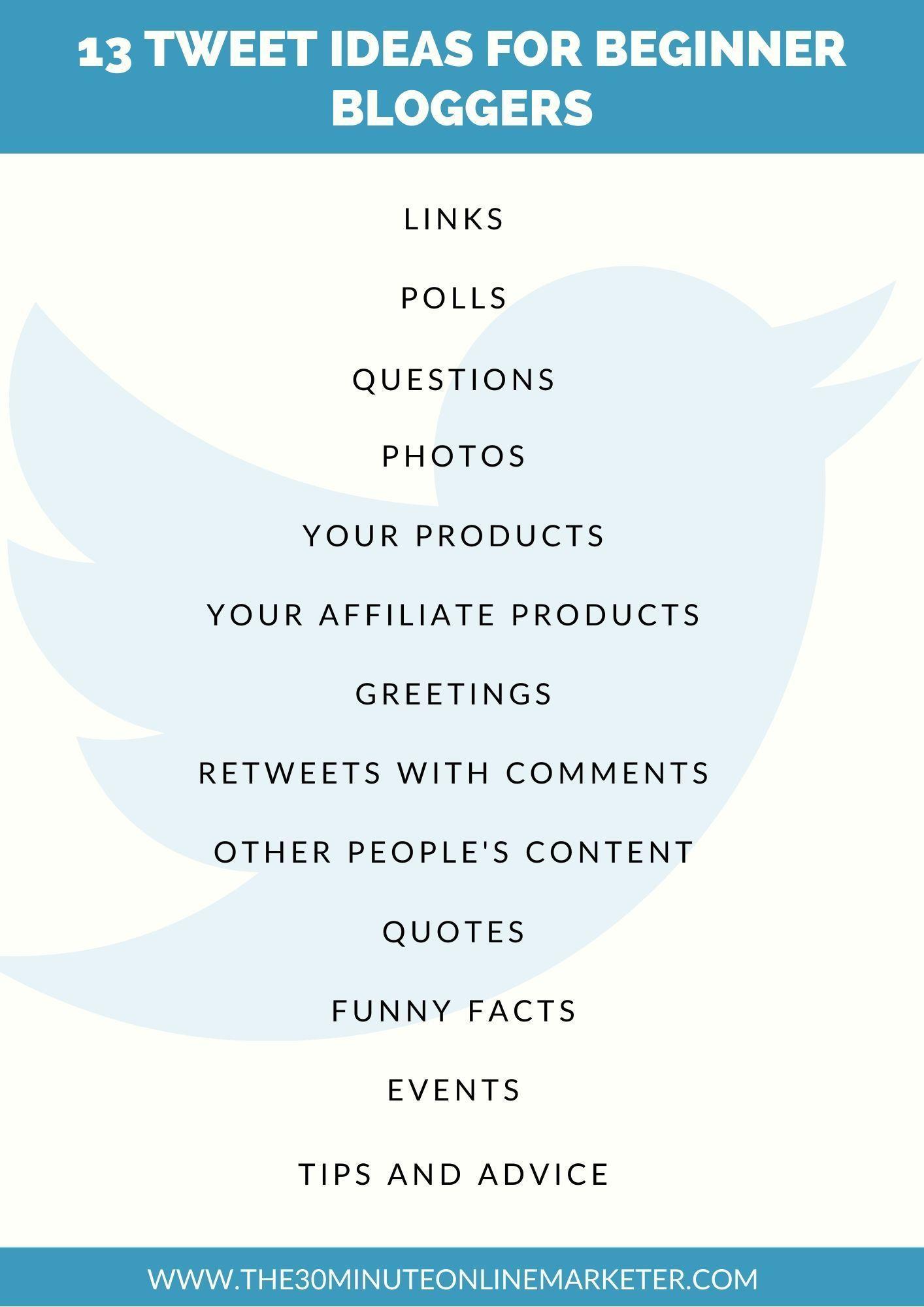 How Beginner Bloggers Use Twitter Effectively Social Media Schedule Social Media Marketing Pinterest Social Media