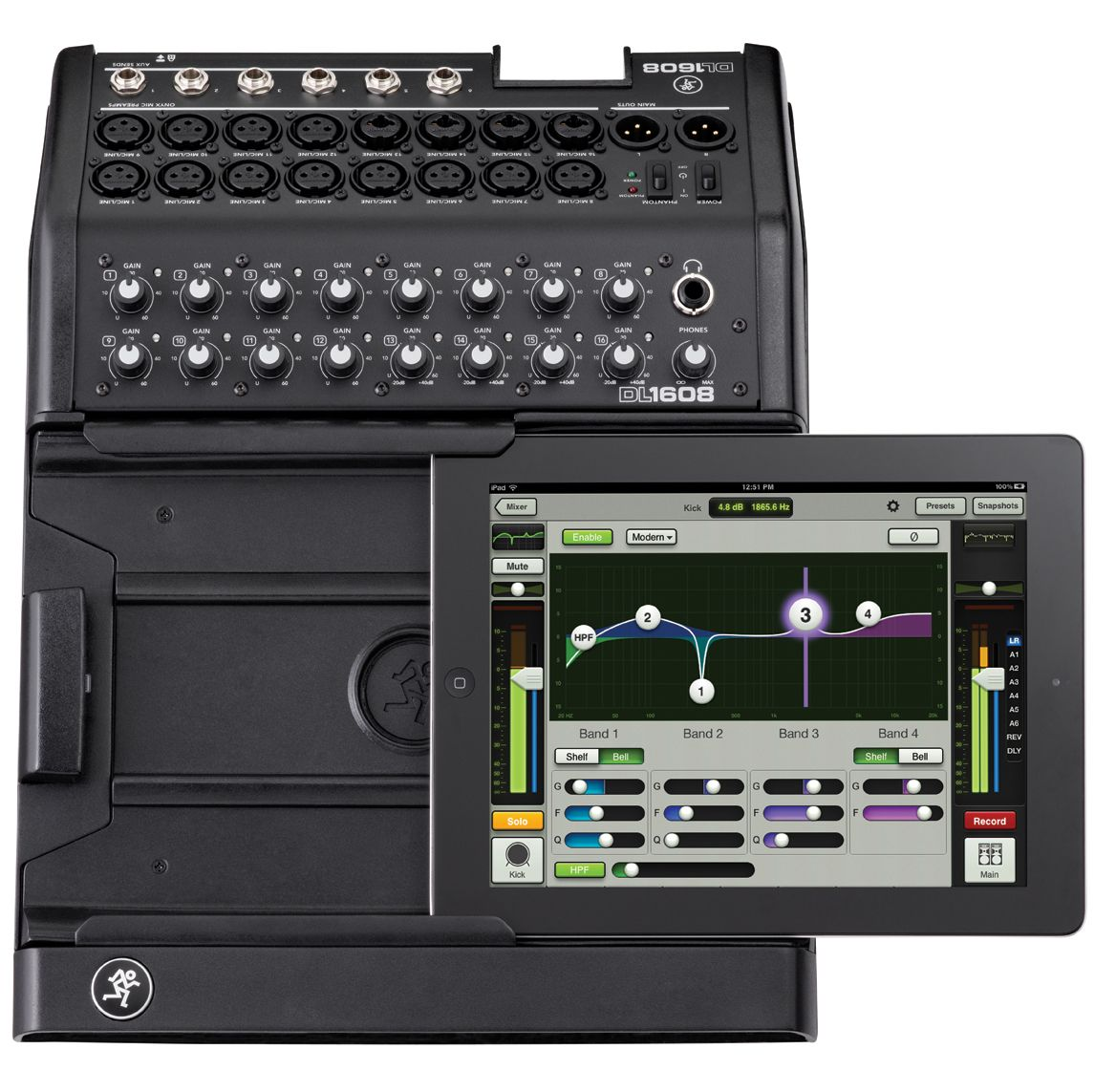 mackie dl1608 ipad mixer live sound mixer digital mixer live sound pro audio best. Black Bedroom Furniture Sets. Home Design Ideas
