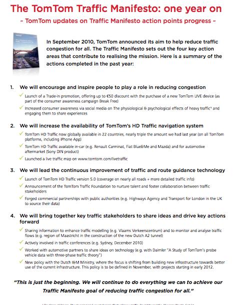 TomTom Traffic Manifesto - Fout Principles   Brand Manifestos