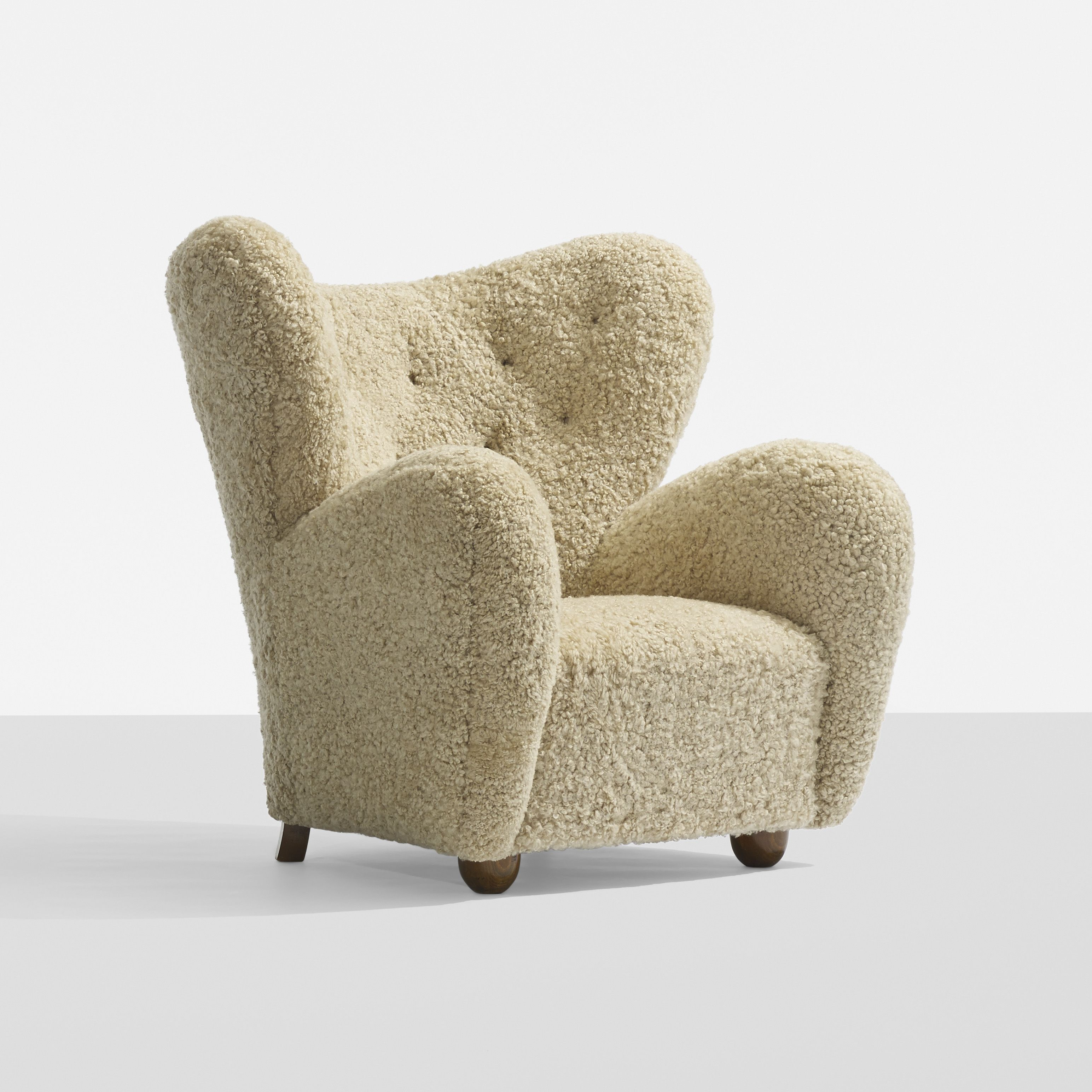 Flemming Lassen, attribution lounge chair, c. 1940  Oh my gosh, this looks like it's fleece.  Comfy and warm, ahhh...